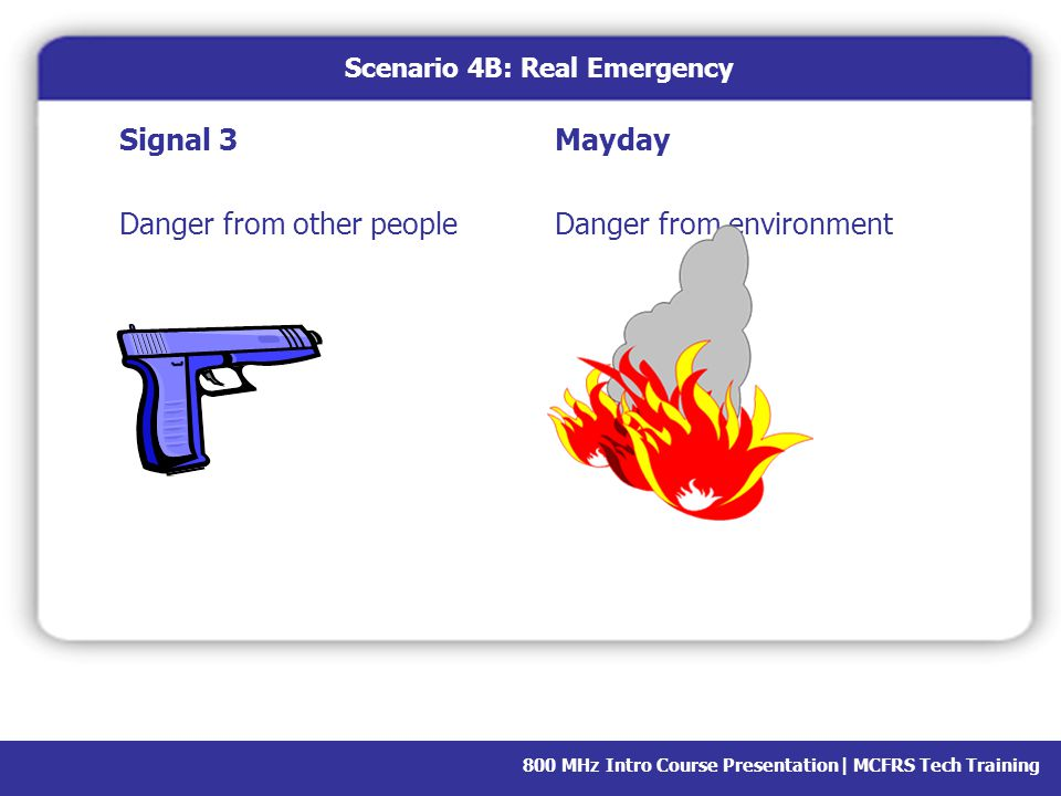 Scenario 4B: Real Emergency