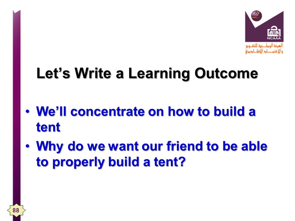 Let's Write a Learning Outcome