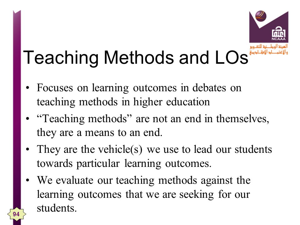 Teaching Methods and LOs