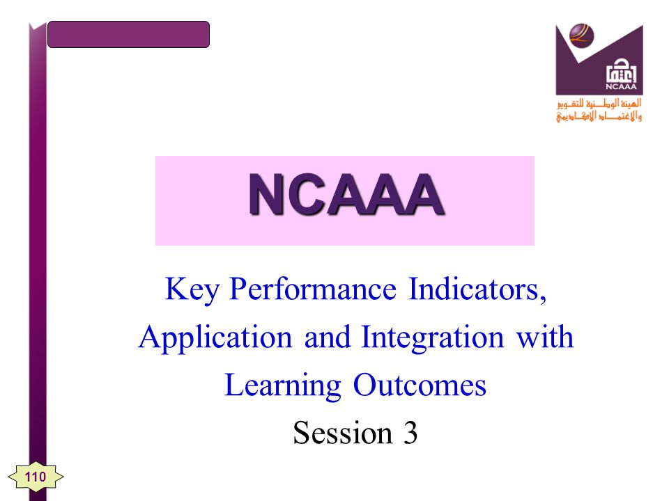 NCAAA Key Performance Indicators, Application and Integration with