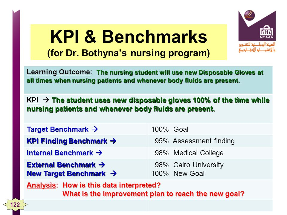KPI & Benchmarks (for Dr. Bothyna's nursing program)