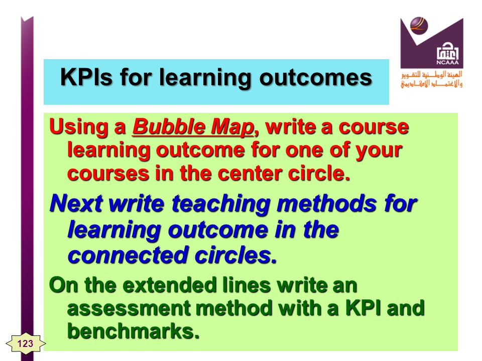 KPIs for learning outcomes