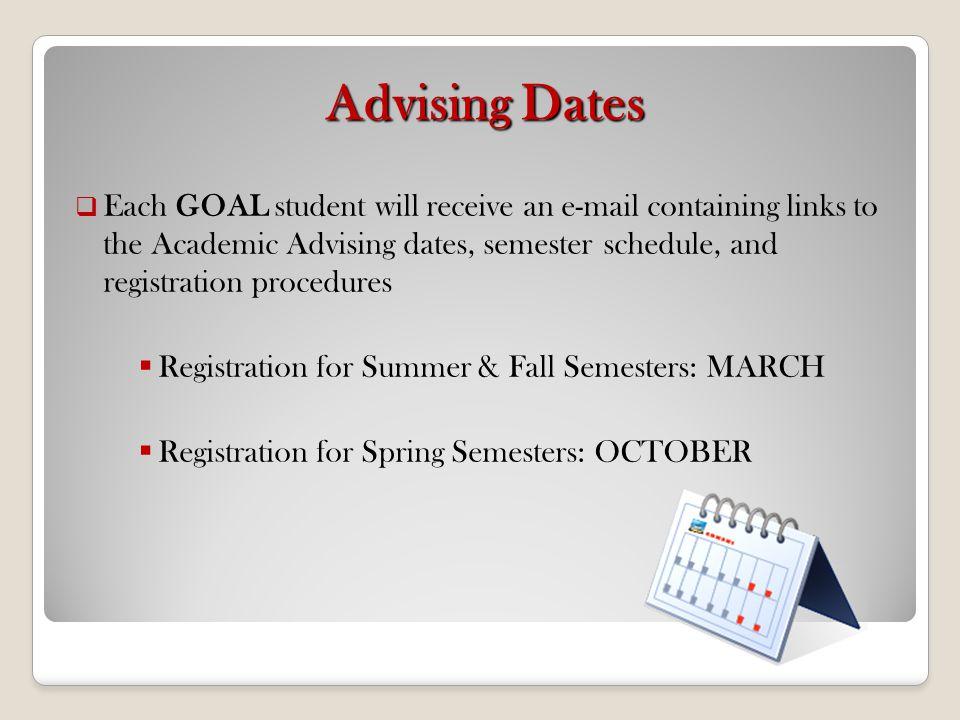 Advising Dates