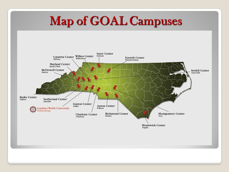 Map of GOAL Campuses