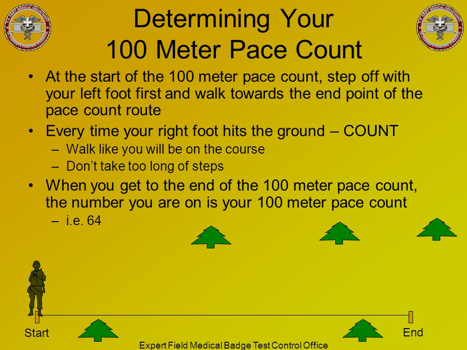 Determining Your 100 Meter Pace Count