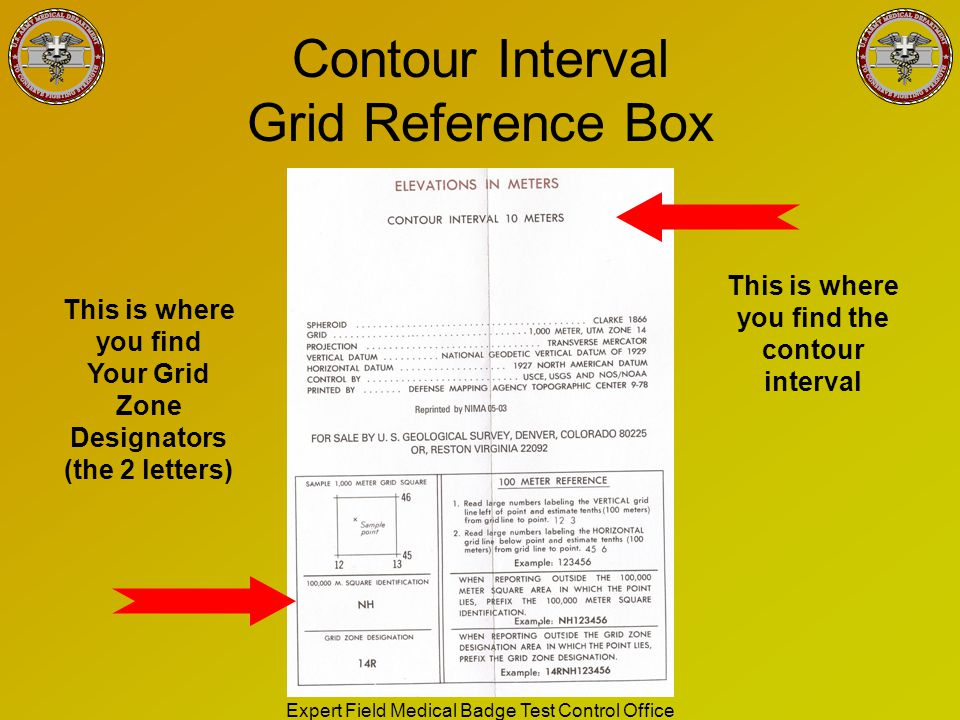 Contour Interval Grid Reference Box