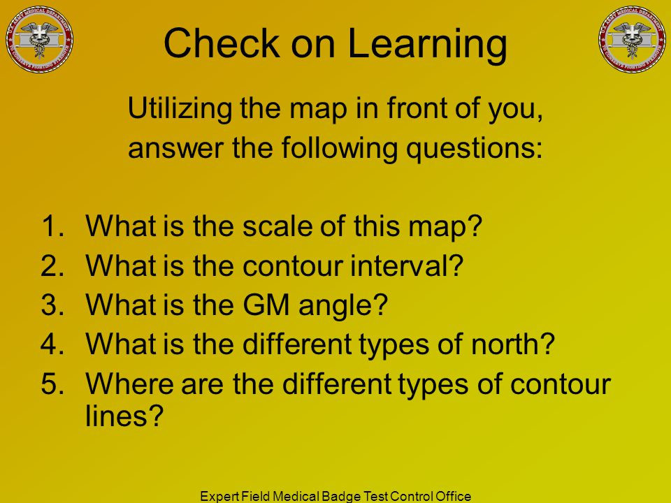 Check on Learning Utilizing the map in front of you,