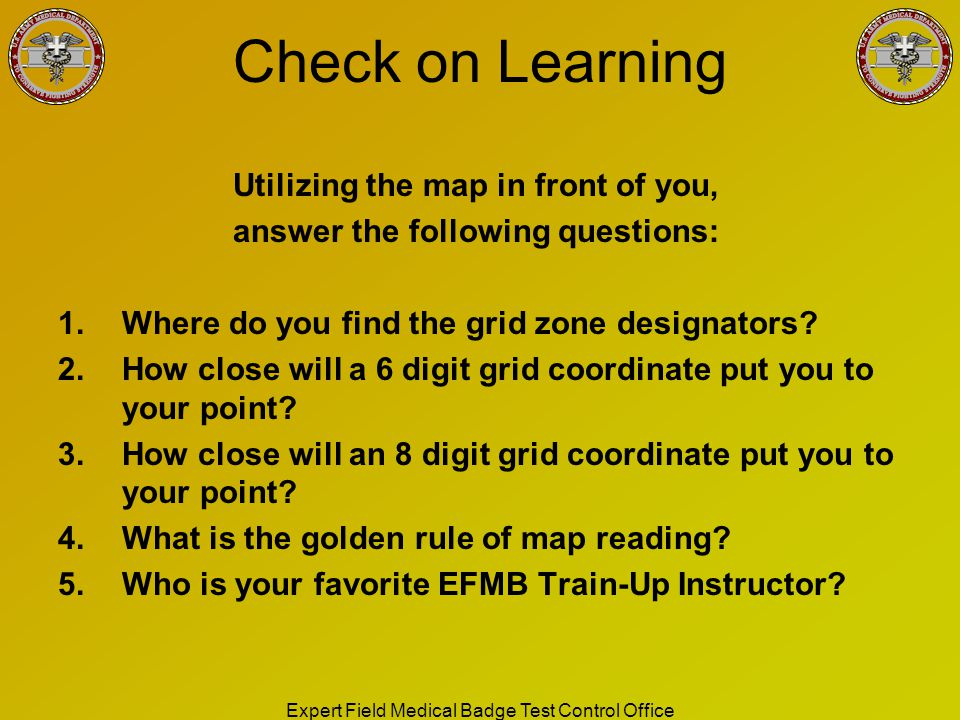 Utilizing the map in front of you, answer the following questions: