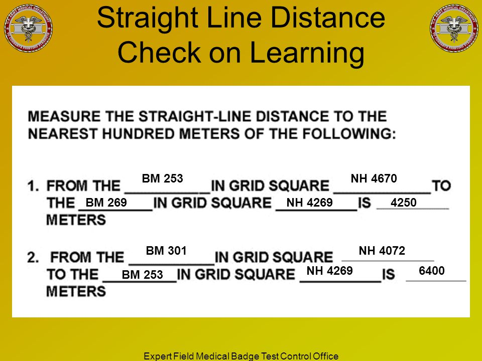 Straight Line Distance Check on Learning
