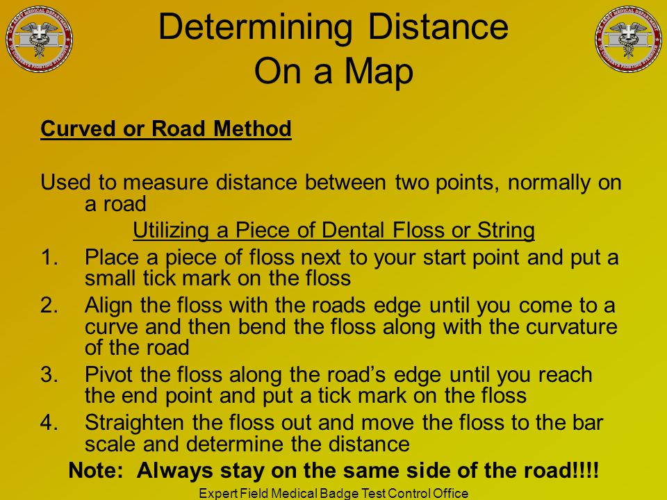 Determining Distance On a Map