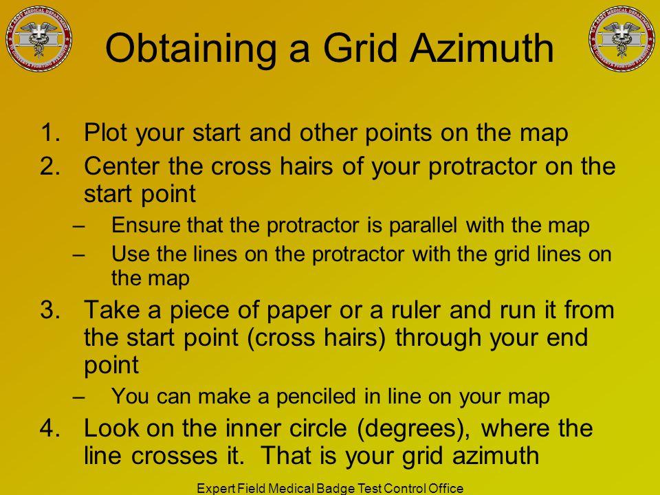 Obtaining a Grid Azimuth