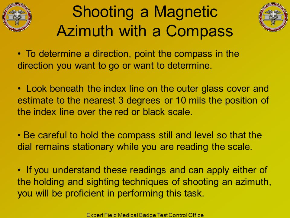 Shooting a Magnetic Azimuth with a Compass