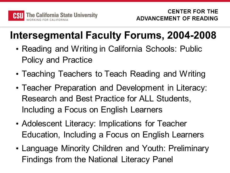 Intersegmental Faculty Forums, 2004-2008