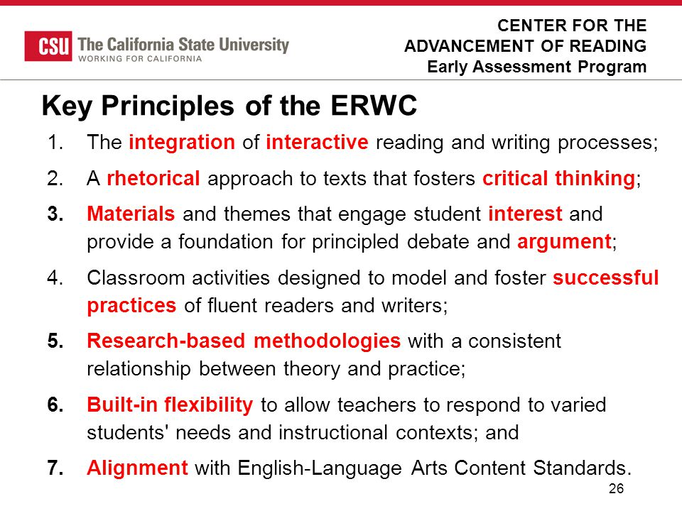 Key Principles of the ERWC