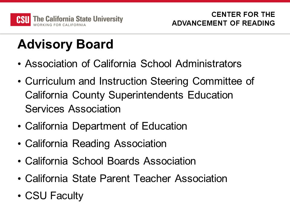 Advisory Board Association of California School Administrators