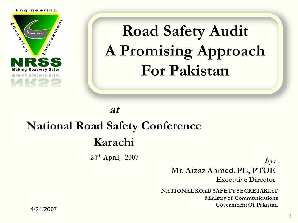 at National Road Safety Conference Karachi