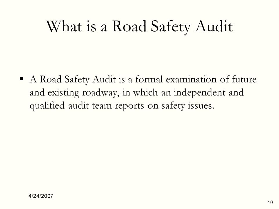 What is a Road Safety Audit