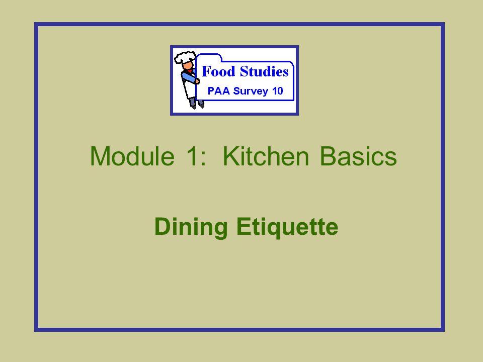 Module 1: Kitchen Basics