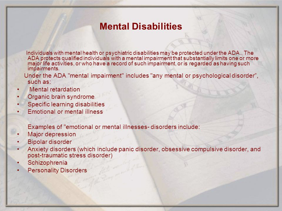 Mental Disabilities