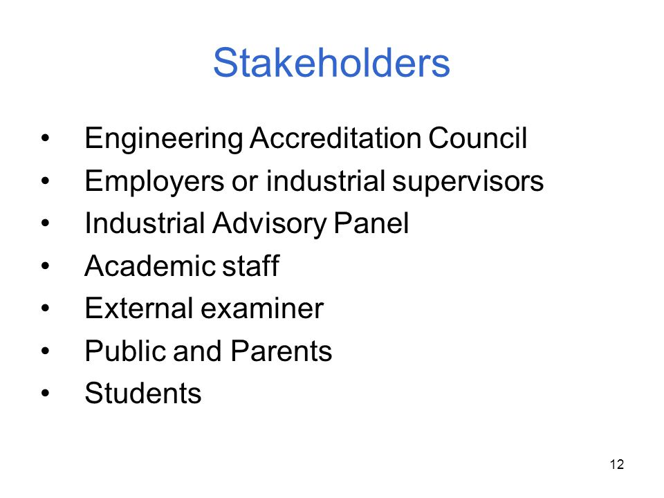 Stakeholders Engineering Accreditation Council