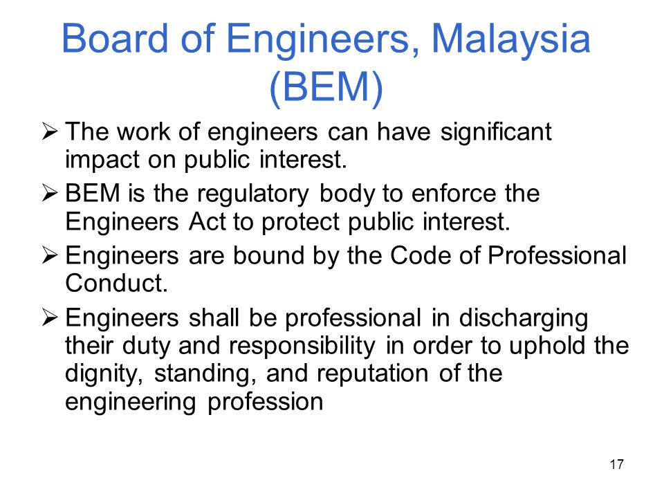 Board of Engineers, Malaysia (BEM)