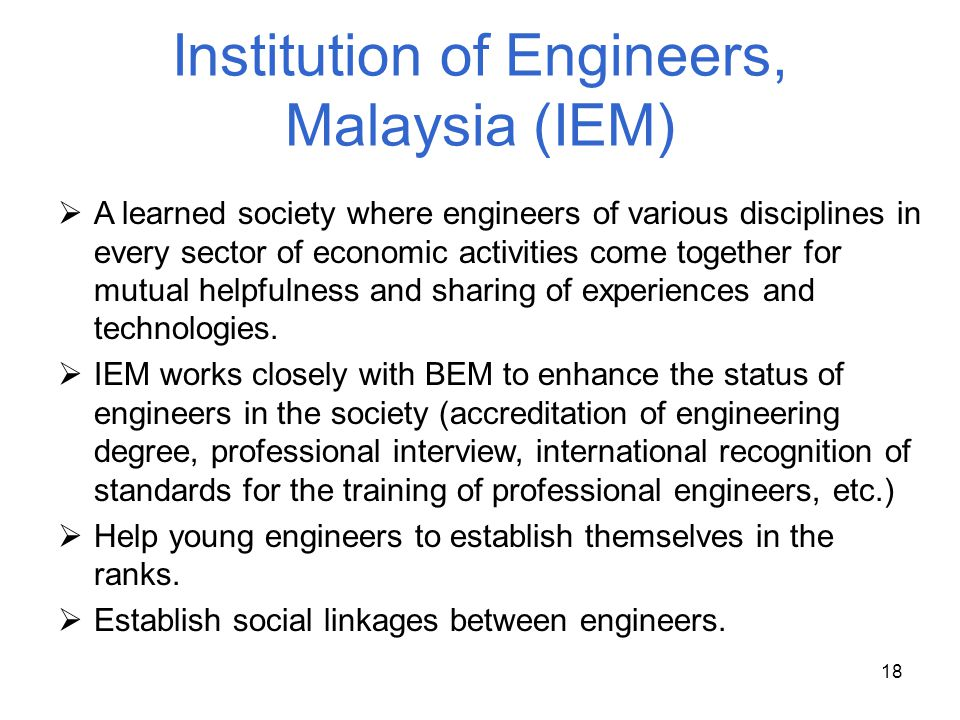 Institution of Engineers, Malaysia (IEM)