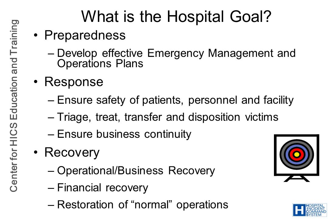 What is the Hospital Goal
