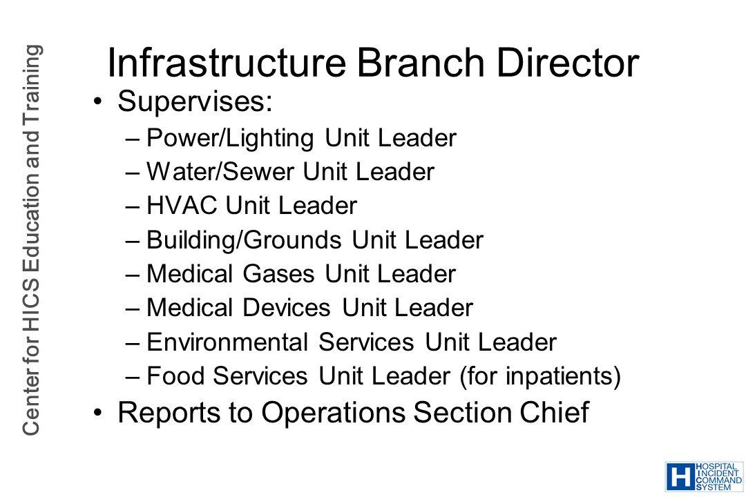 Infrastructure Branch Director