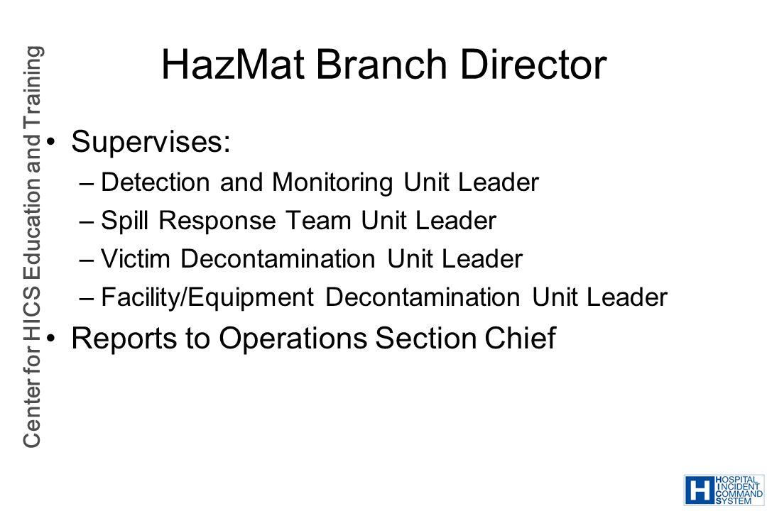 HazMat Branch Director