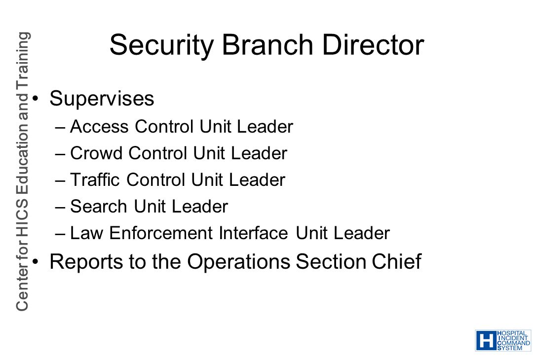 Security Branch Director