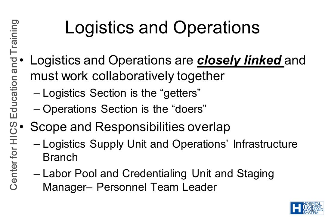 Logistics and Operations