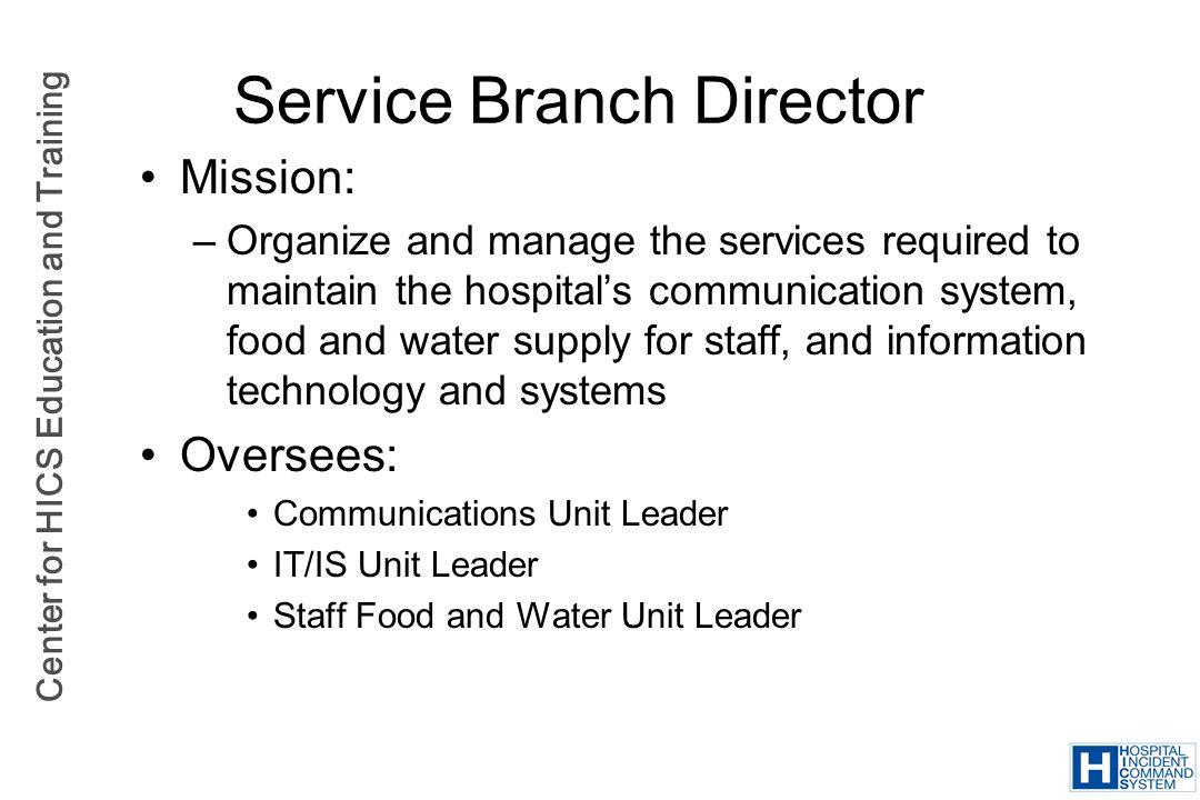Service Branch Director
