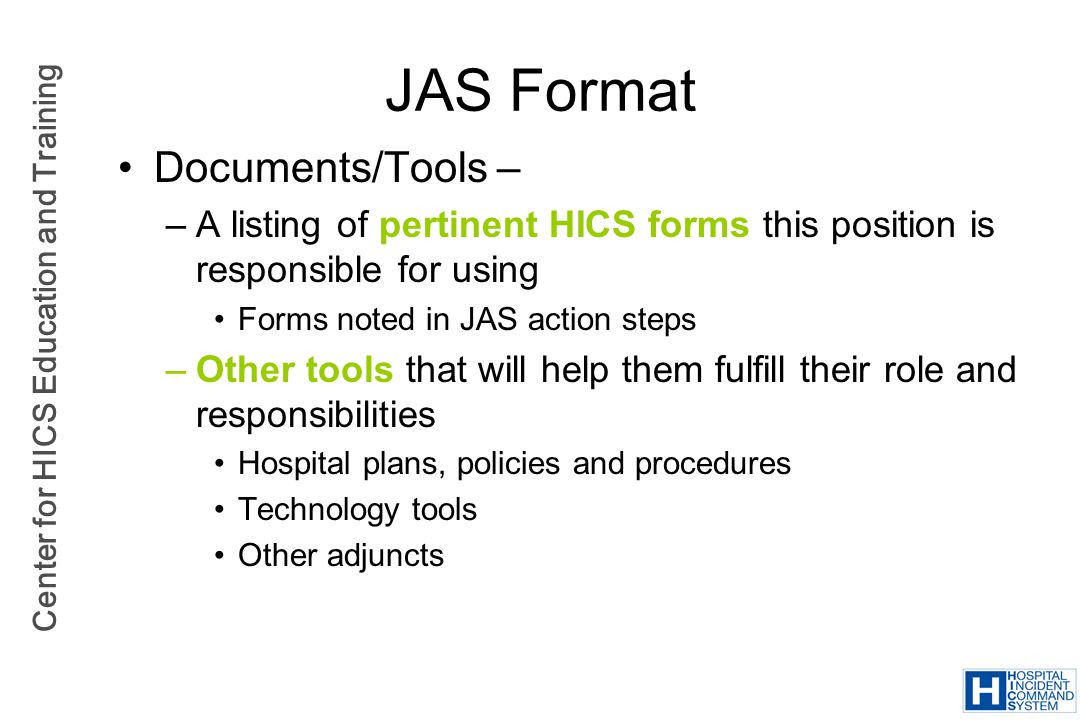 JAS Format Documents/Tools –