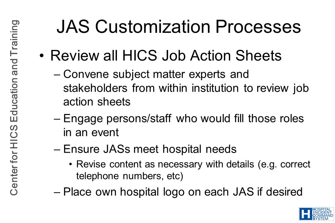 JAS Customization Processes
