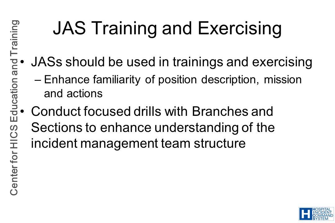 JAS Training and Exercising