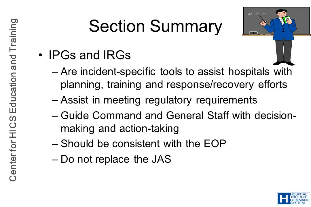 Section Summary IPGs and IRGs