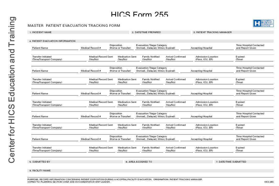 HICS Form 255