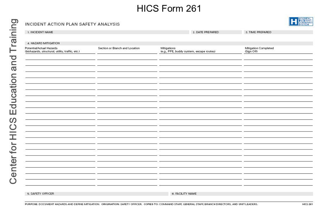 HICS Form 261