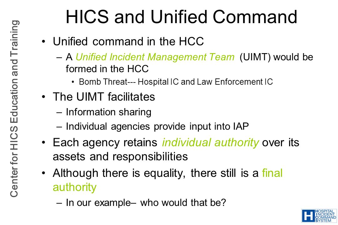HICS and Unified Command