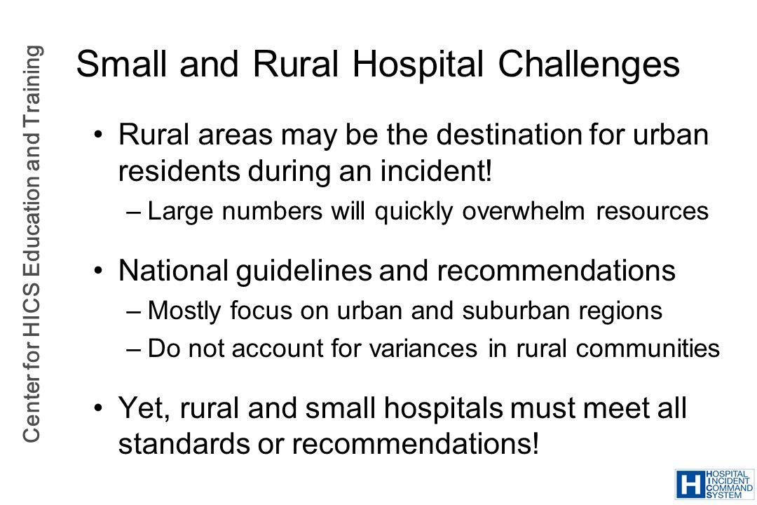 Small and Rural Hospital Challenges