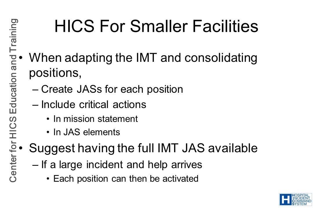 HICS For Smaller Facilities