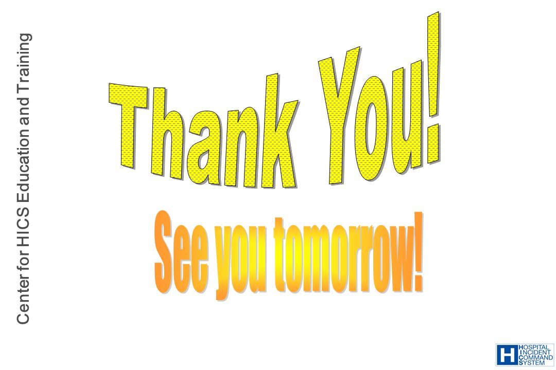 Thank You! See you tomorrow!