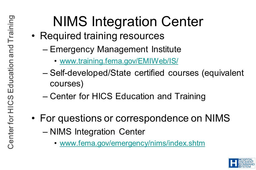 NIMS Integration Center