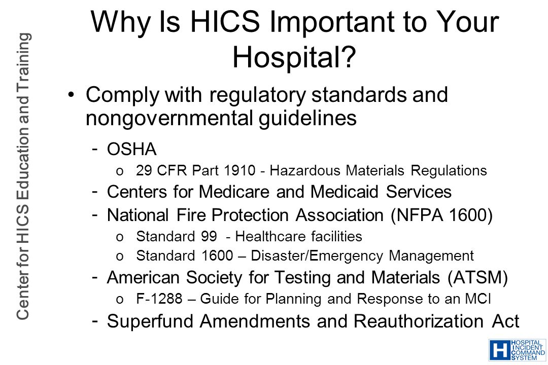 Why Is HICS Important to Your Hospital