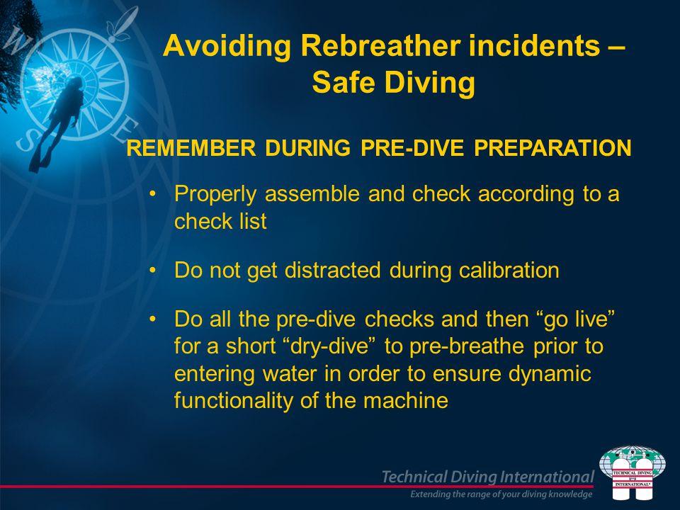 Avoiding Rebreather incidents – Safe Diving