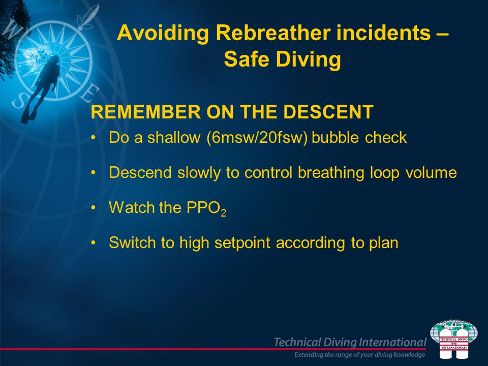 Avoiding Rebreather incidents – Safe Diving