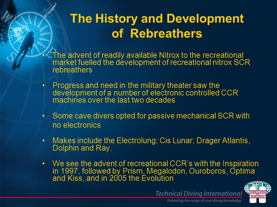 The History and Development of Rebreathers