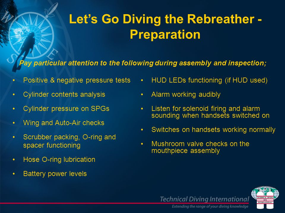 Let's Go Diving the Rebreather - Preparation