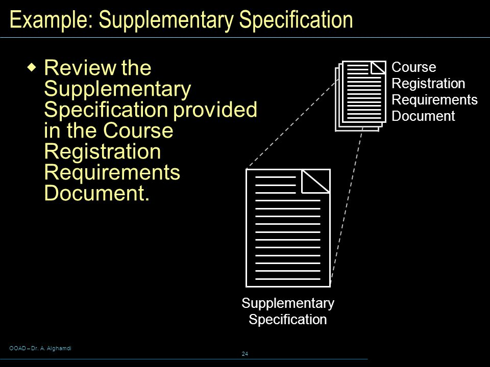 Example: Supplementary Specification