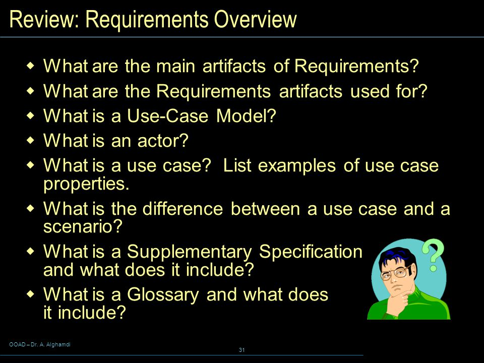 Review: Requirements Overview